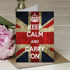 Keep Calm and Carry On - Union Jack Background